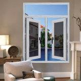 La economía de la ventana de vidrio aluminio termolacado con mosquitero