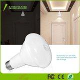 Lâmpada automática de movimentos PIR Br30 E26 Luz do LED do sensor de 12W