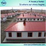 يصنع بنية منزل لأنّ معيشة مؤقّتة