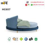 Rey redondo Bed/base moderna/base de la tela (HC857) del nuevo diseño elegante