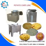 Pommes chips frites semi automatiques et complètement automatiques faisant la ligne