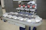 Machine d'impression semi-automatique de garniture de quatre couleurs avec le convoyeur