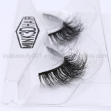 pestañas falsas de las pestañas 3D del pelo animal del visión hecho a mano natural de las pestañas