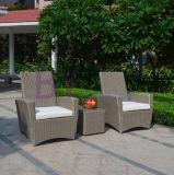 Sofá cómodo de la rota del PE del ocio del hotel al aire libre gris del jardín