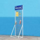Храньте стеллаж для выставки товаров инструментов ячеистой сети утюга крюка пола стоя вися