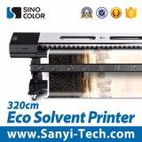 La impresora solvente más nueva Sinocolor Sj1260 de Eco Digital con la pista de Epson