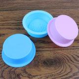 Sy03-04-003 choisissent le petit plateau de moulages de savon de silicones de forme ronde