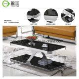 Mobiliário de sala de café da mesa de vidro temperado Yf-T17079
