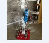4 - Seitlicher Slatwall Metallfußboden-Rollen-Draht-hängender Bildschirmanzeige-Zahnstangen-Eis-Eislauf-Schuh-Standplatz