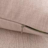 tampa de linho do coxim do sofá do algodão quadrado de 45X45cm sem encher (35C0211)