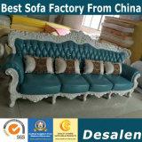 Sofà reale del cuoio genuino del commercio all'ingrosso della fabbrica di 4 Seater (003)