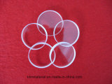 Disco de vidrio de cuarzo transparente bajo precio
