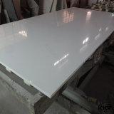 quartz en pierre artificiel blanc superbe de grande partie supérieure du comptoir de brame de 3cm