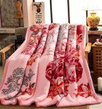 Мягко грейте напечатанное одеяло норки Raschel акриловое