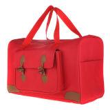 Elegante bolsa de viagem vermelho