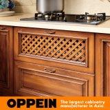Cabina de cocina moderna de la membrana del PVC de los estilos de las ideas del diseñador (OP16-027)