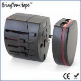 De Adapter van de reis met Dubbele Lader USB (xh-uc-040)