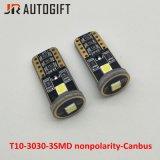 Coche-Labrando T10 3030 3SMD Nonpolarity Canbus 194 168 luces pilotas del coche de W5w