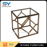 Mesa de centro de cristal de oro de los muebles al aire libre del jardín