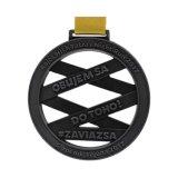 Bañado en cobre antiguo uso premio medalla de deporte con cinta