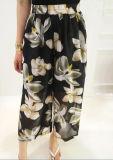 Pantalones amplios de la pierna de las mujeres de la manera de la alta calidad de las señoras