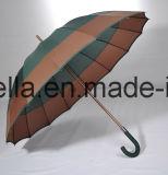 雨のためのまっすぐの高品質マニュアルの開いた傘
