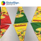 Zeichenkette-Markierungsfahnen-Flagge-Markierungsfahnen-Polyester-Dreieck-Markierungsfahne