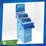 4つの層のボール紙の飲料の陳列台、ココナッツジュースのフロア・ディスプレイ
