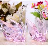 De populaire Zwaan van het Kristal van de Decoratie Kleurrijke Met de hand gemaakte voor de Gift van het Huwelijk
