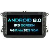 De octa-Kern van Witson (Kern Acht) Androïde 8.0 Auto DVD voor IPS van ROM van het Scherm van de Aanraking van ROM 1080P van VW Jetta/Tiguan/Passat 4G 32GB het Scherm