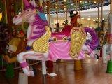 Manège de carrousel de conduite de cheval de matériel d'amusement pour le stationnement