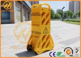 Rétractable barrière de la circulation routière en plastique jaune pour la sécurité