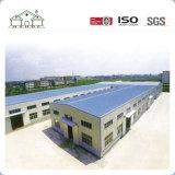 Los suelos dobles galvanizaron el edificio prefabricado del taller de la fábrica de la estructura de acero