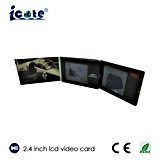 2.4インチLCDスクリーンのビデオパンフレット
