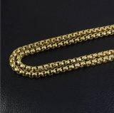 Halsband Mjcn004 van de Ketting van de Doos van Hip Hop 18K de Gouden Ronde