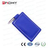 Der Nähe-RFID Zugriffssteuerung Keyfob Karten-des Leder-13.56MHz