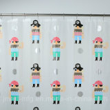 Impressão de alta qualidade PEVA cortina do chuveiro com Casa de Banho à prova de Águas Balneares