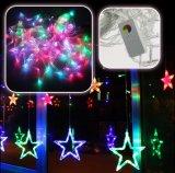 2m LED Dekoration der Stern-Vorhang-des Licht-LED beleuchtet Stern-Lichter für Haus