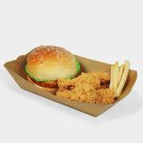 El papel de estraza bandeja de comida para llevar pollo frito barquito de papel bandeja