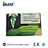 Приватное изготовленный на заказ дело ультра тонко с карточкой LCD 2.8 дюймов видео-