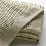 Tecidos de algodão Xadrez luxo Manta Waffle para Home Produtos Têxteis