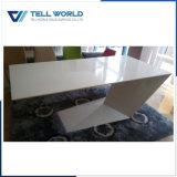 홈을%s 구부려진 백색 색깔 사무용 가구 사무실 테이블