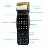 Scanner tenu dans la main androïde PDA de code barres avec l'imprimante thermique de réception de 58mm