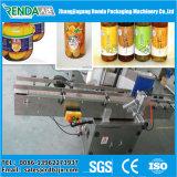 Etiqueta adhesiva semi automática de la botella redonda que pega la máquina