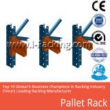 Crémaillères de palette d'étagère réglable en métal d'entrepôt