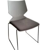 Самомоднейшая конструкция штабелируя пластичный стальной домашний живущий стул комнаты