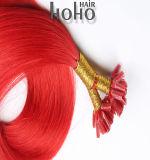 Dubbel Getrokken Haar Haar van het Uiteinde van U van de Keratine van 22 Duim het Italiaanse