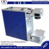 Машина маркировки лазера волокна металла цены 20W изготовления портативная