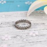 Anel popular do aço inoxidável de anel de ouro branco da jóia da forma para mulheres