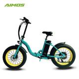 Дешевые 20дюйма дамы жир белый шин складной электрический велосипед мотоцикл с электроприводом